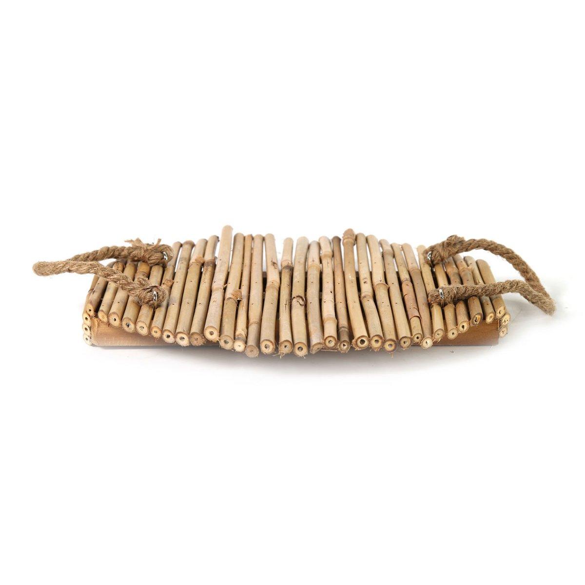 Dienblad Bamboe. Jamal S Afmeting artikel: 30 x 30 x 4 cm