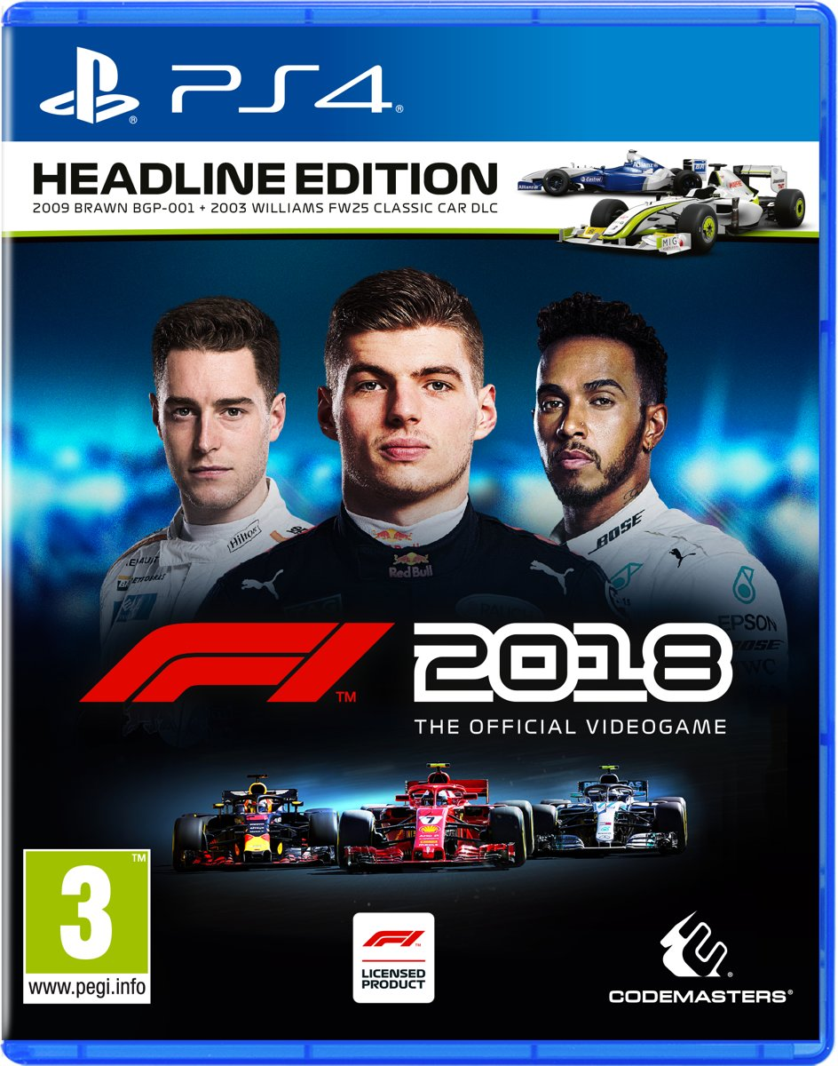 Formula 1 F1 2018 Headline Edition PlayStation 4
