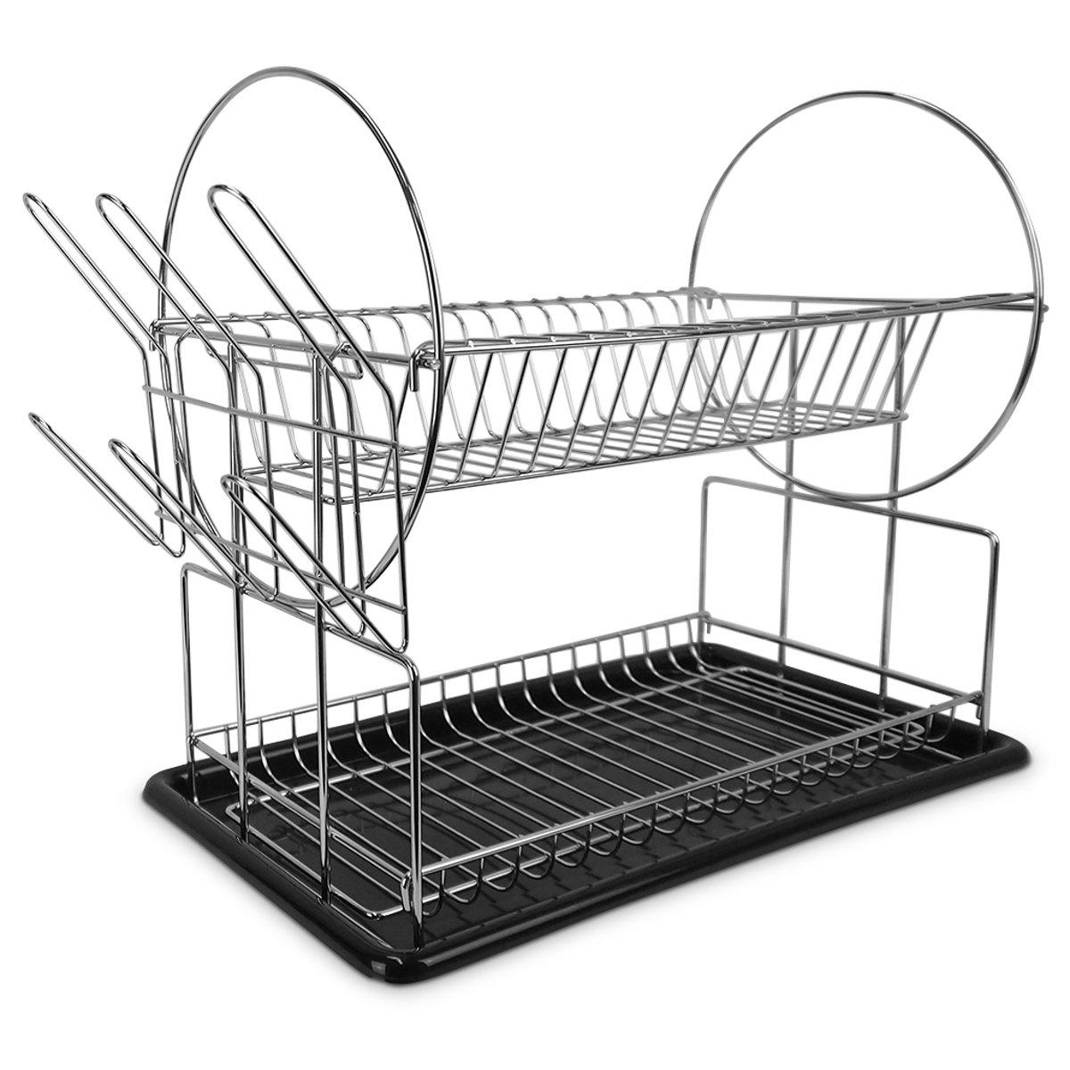 Vannons - Afdruiprek RVS - Afwasrek met onderzetter - Staal kopen