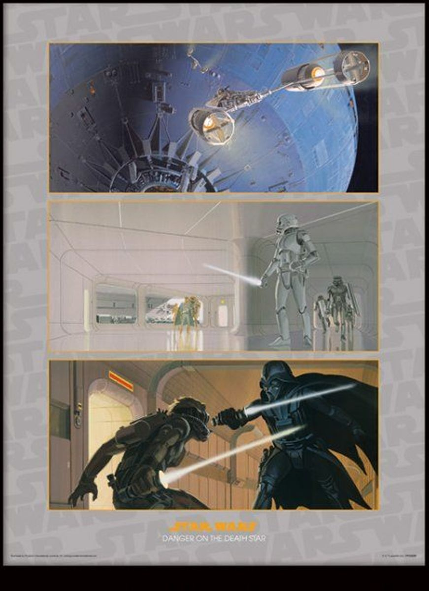 STAR WARS - Collector Print HQ 32X42 - Danger on the Death Star kopen