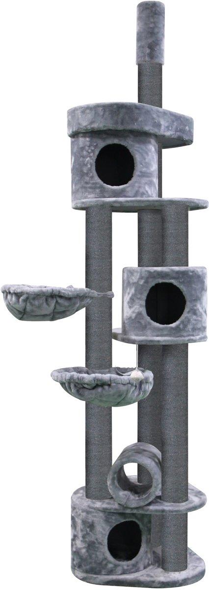 Petrebels Krabpaal Sweet Petite - Bungalow 240 - fuzzy grey - 240cm - 50 kg