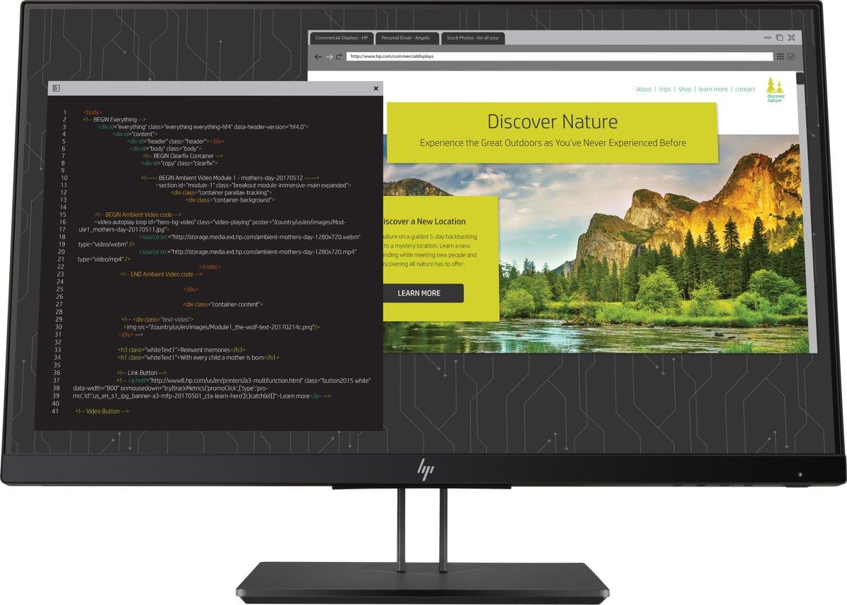HP Z24nf G2 LED display 60,5 cm (23.8'') Full HD Flat Mat Zwart