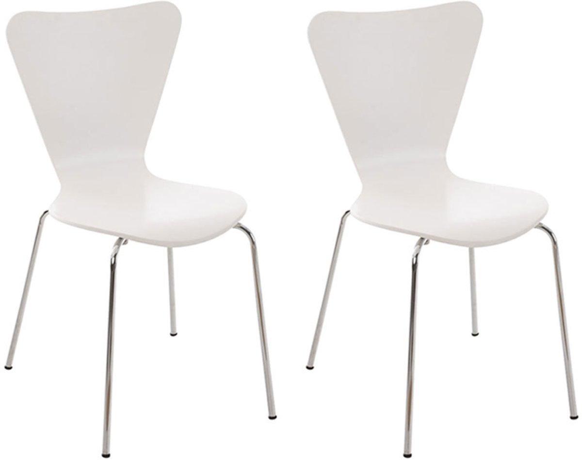 Clp Bezoekersstoel, keukenstoel, conferentiestoel CALISTO - set van 2 - wit kopen