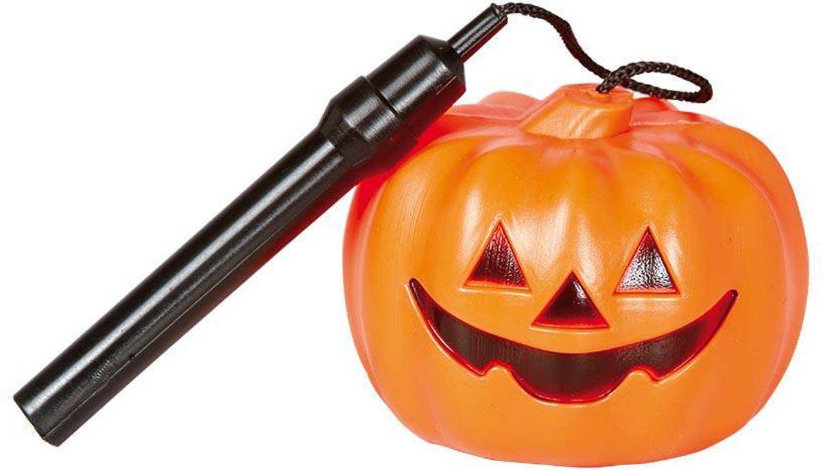 Halloween Pompoen Lampion met licht 10cm kopen