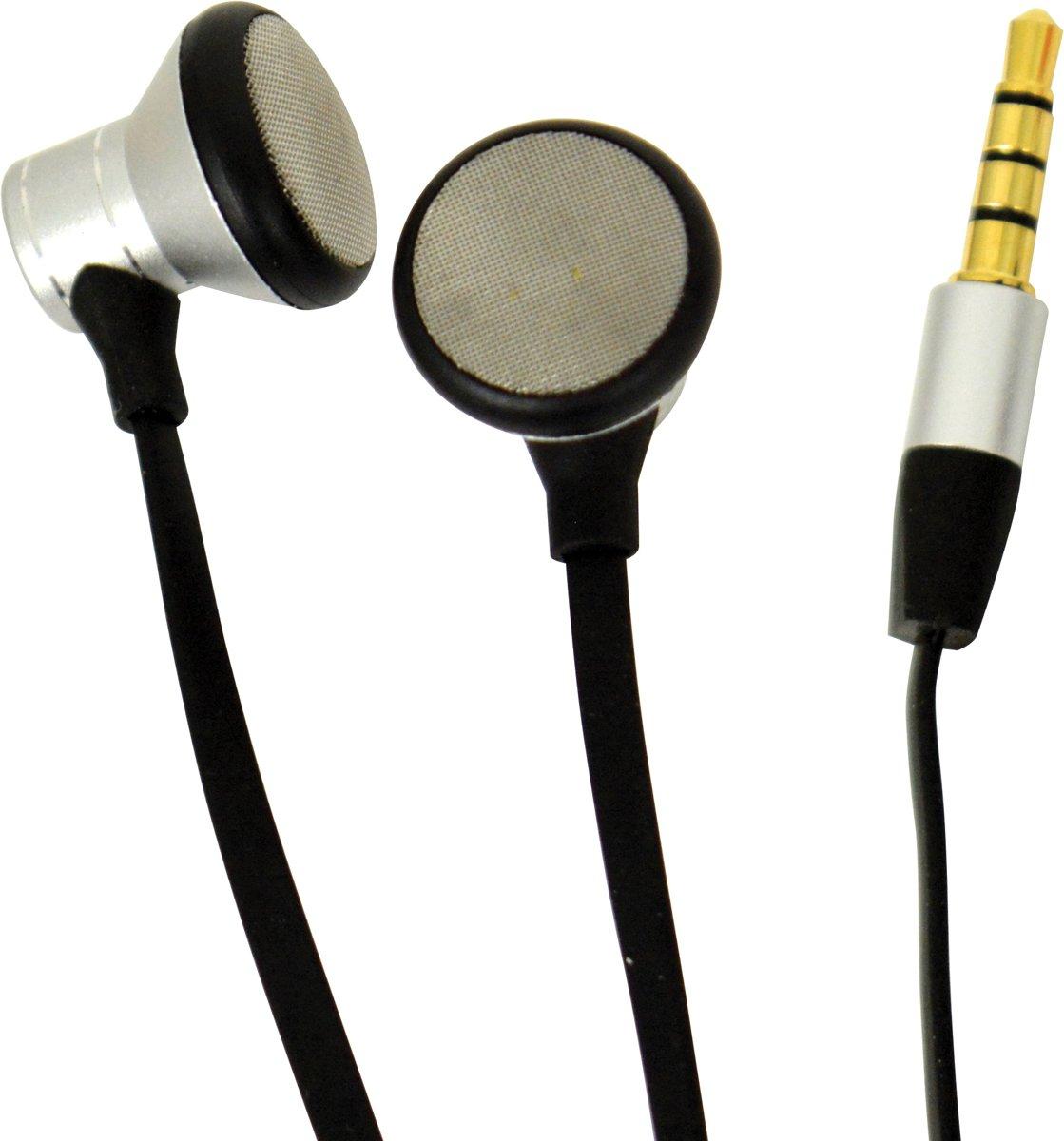 Foto van Carpoint Oordopjes Met Microfoon Zilver/zwart 120 Cm