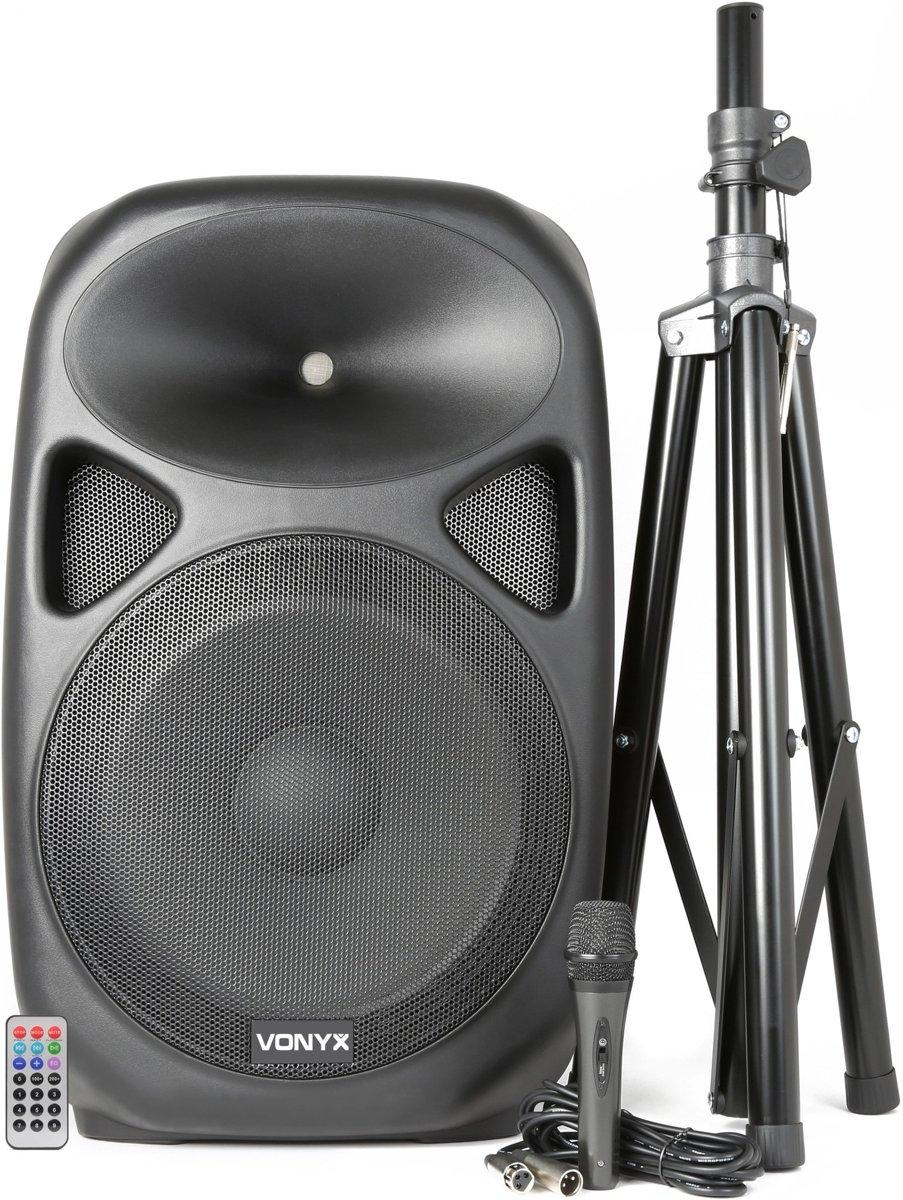Vexus SPS152 Actieve Speaker 15 inch SD/USB/MP3/BT met Standaard kopen