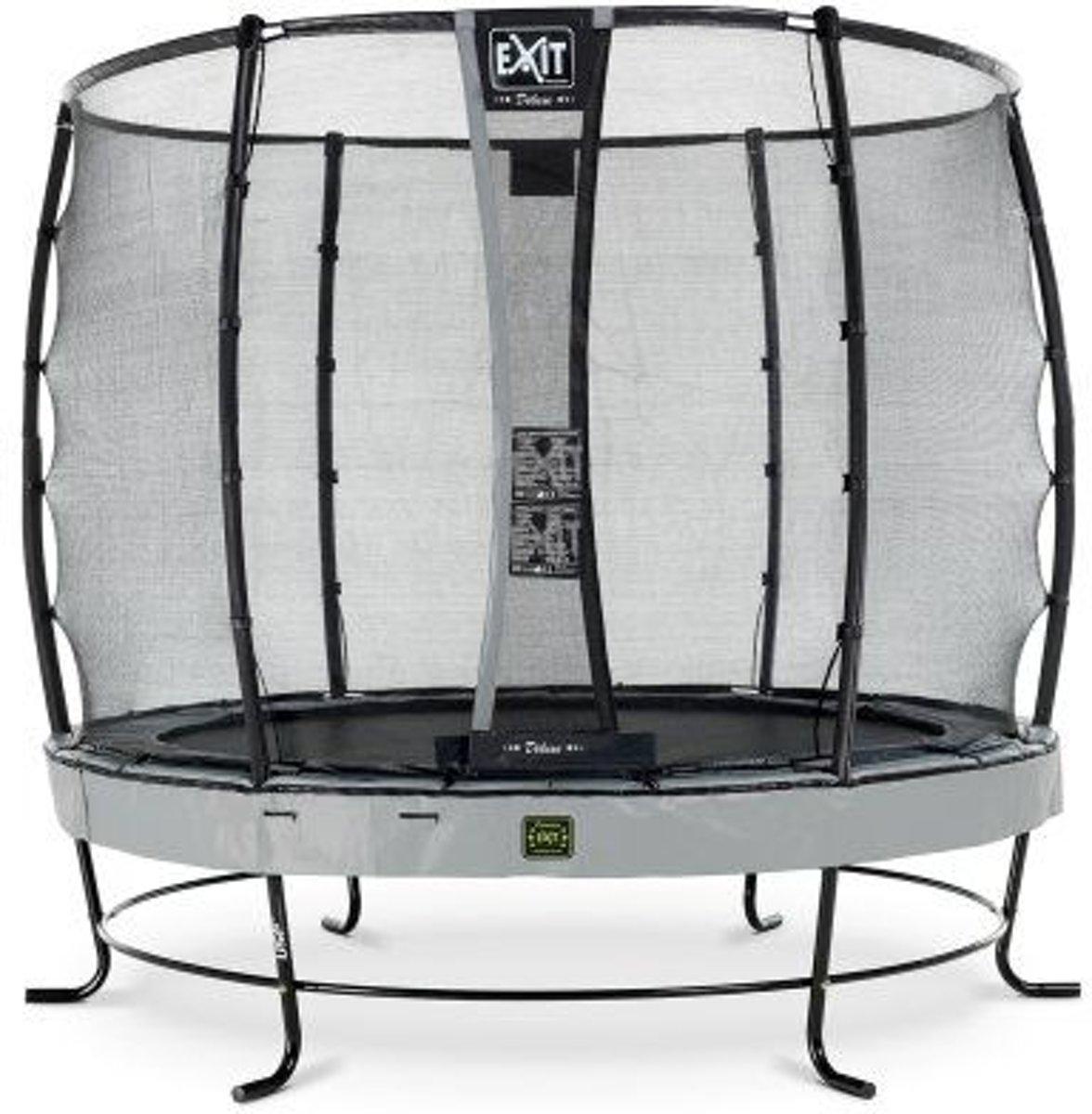 EXIT Elegant trampoline ø305cm met veiligheidsnet Deluxe - grijs