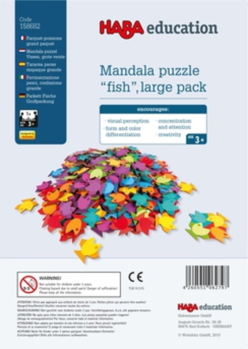 Haba Education - Mandala Puzzle Fish