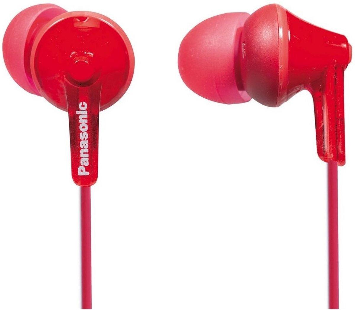 Panasonic RP-HJE125E-R Einstiegs-Ohrkanalhörer rot kopen