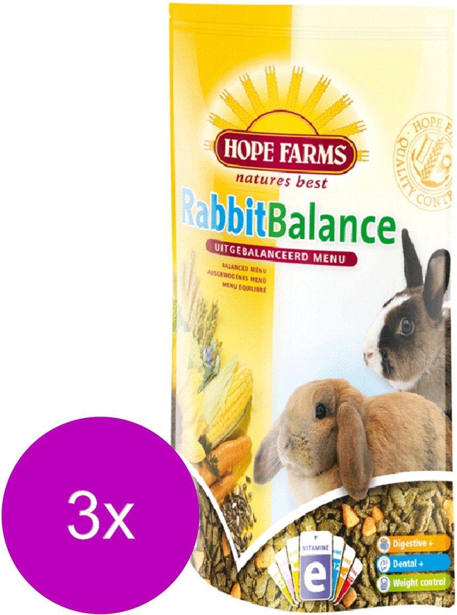 Hope Farms Rabbit Balance - 3 St à 1,5 kg - Konijnenvoer
