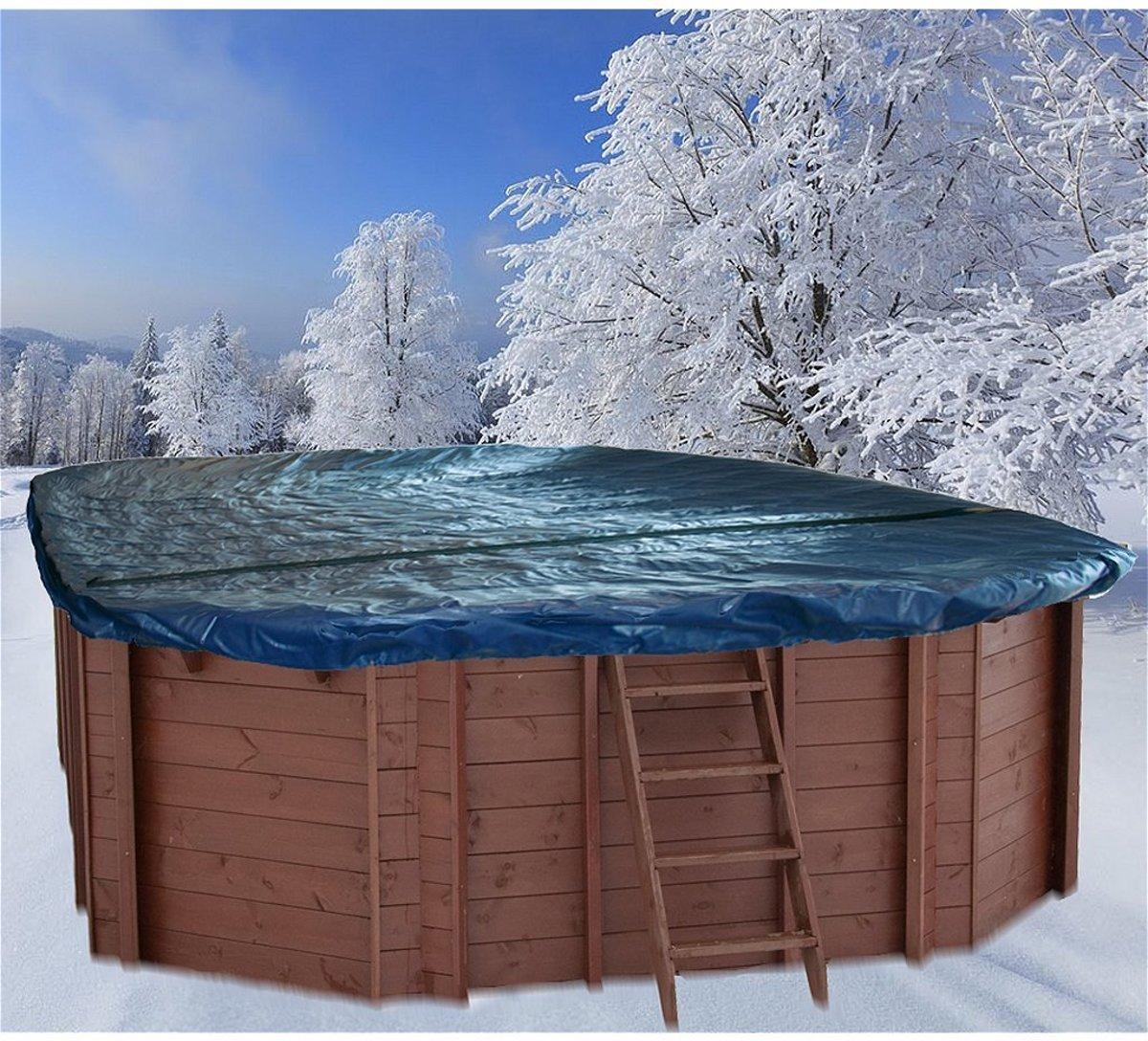 Interline Winterafdekking voor Houten Zwembad Ovaal 8-Hoek 840x490 cm