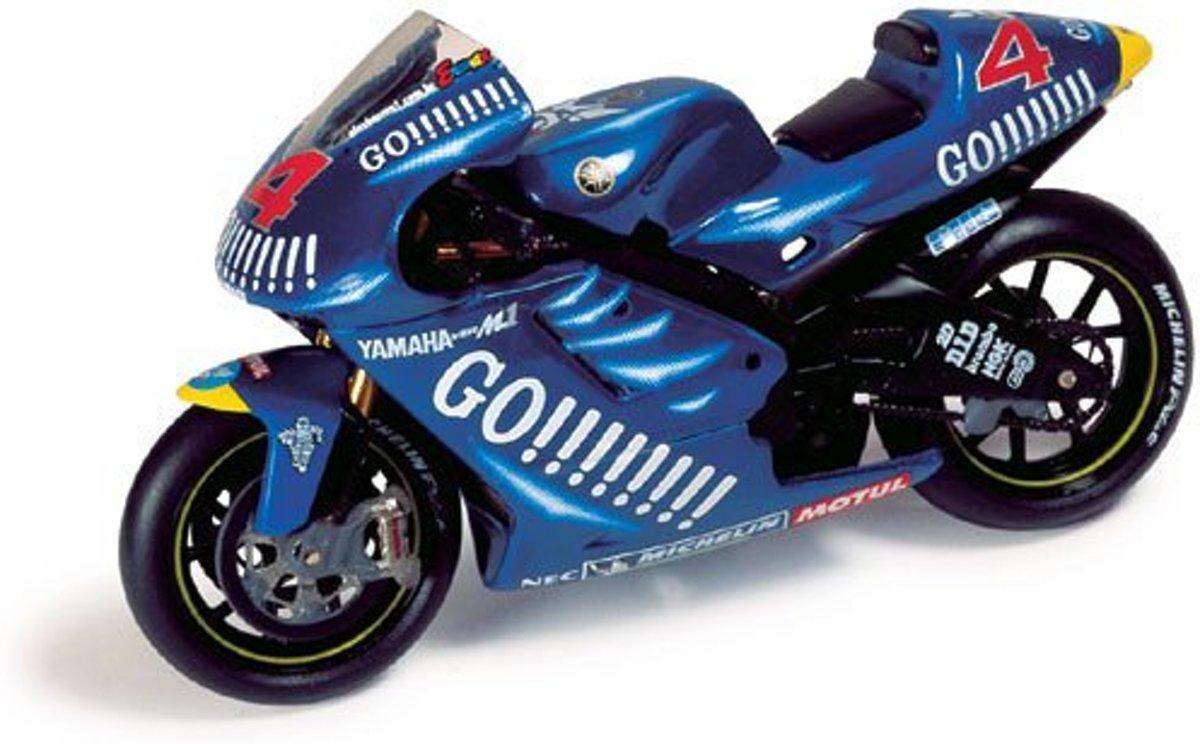 Yamaha YZR-M1 #4 A. Barros MotoGP 2003 1:24 IXO Models Blauw RAB062