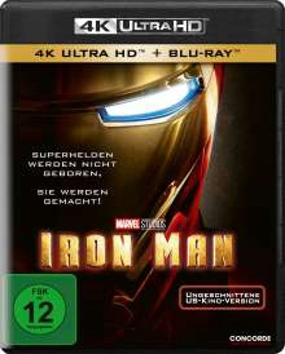 Iron Man (2008) (Ultra HD Blu-ray & Blu-ray)-