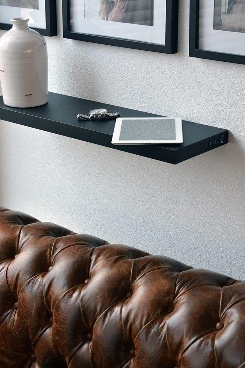 Duraline Draadloze Speaker Wandplank.Duraline Draadloze Bluetooth Speakershelf Wandelement Zwart