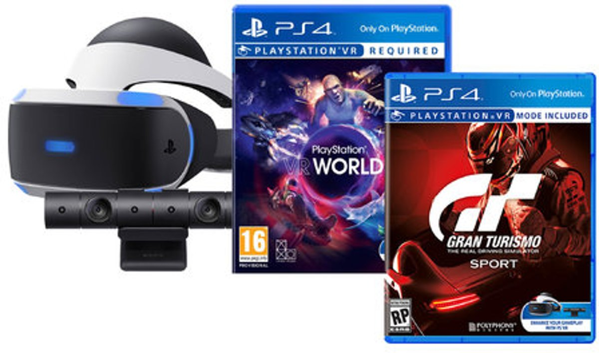 Sony Playstation VR 16 incl. Camera/VR Worlds/ GT Sport kopen