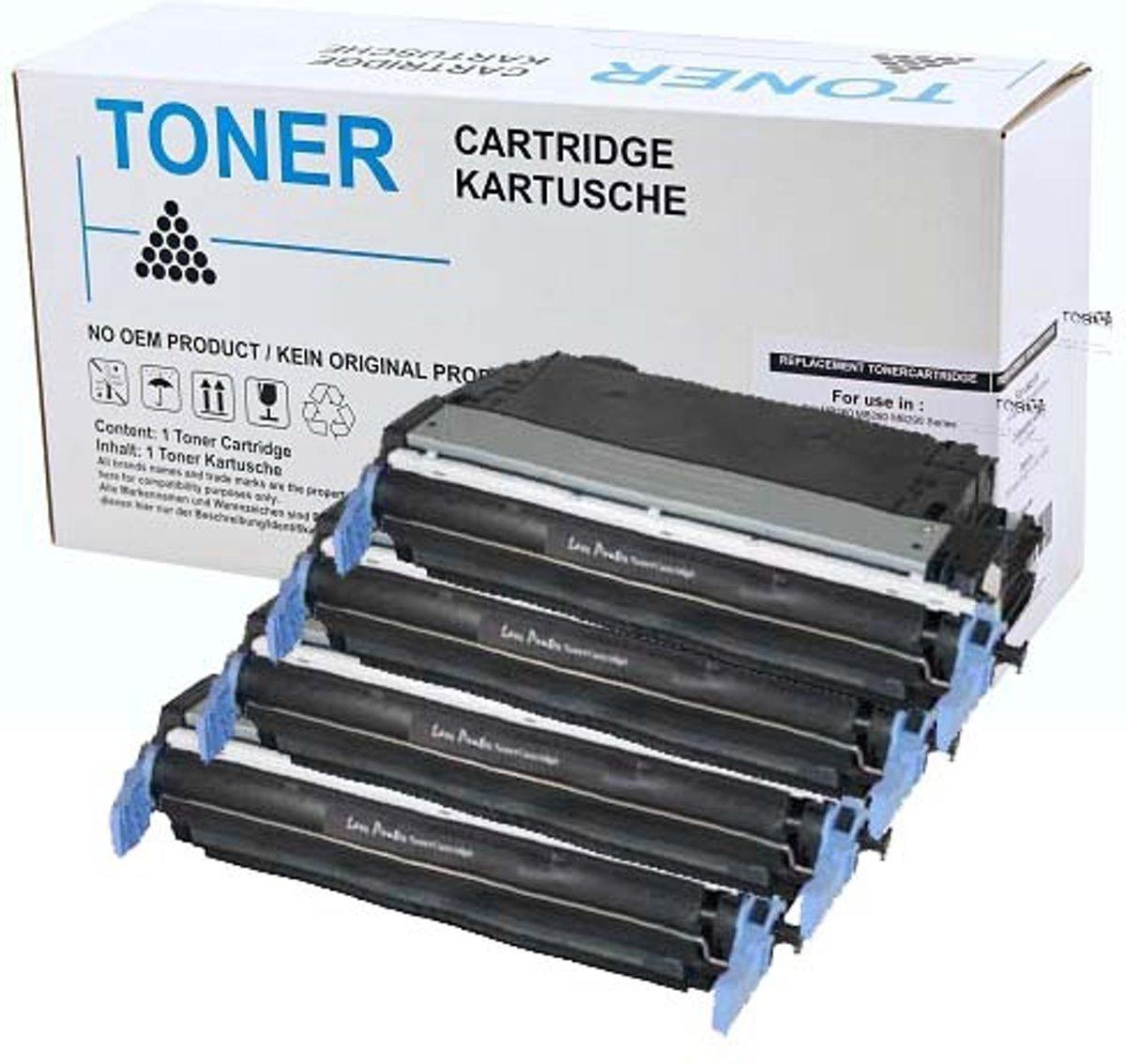 Set 4x Toner Voor Hp 641a Color Laserjet 4600 Clj 4650 Yellow Print Cartridge C9722a