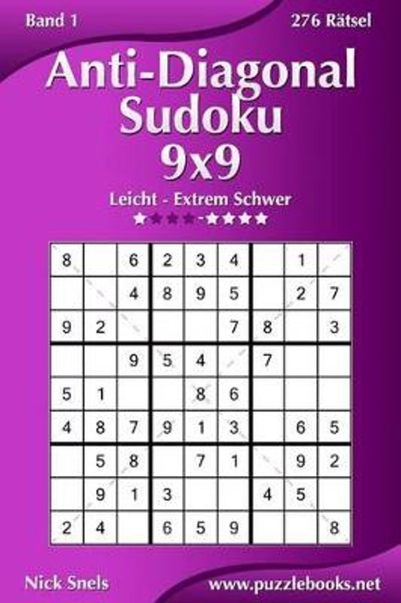 bol.com | Anti-Diagonal-Sudoku 9x9 - Leicht Bis Extrem Schwer - Band ...