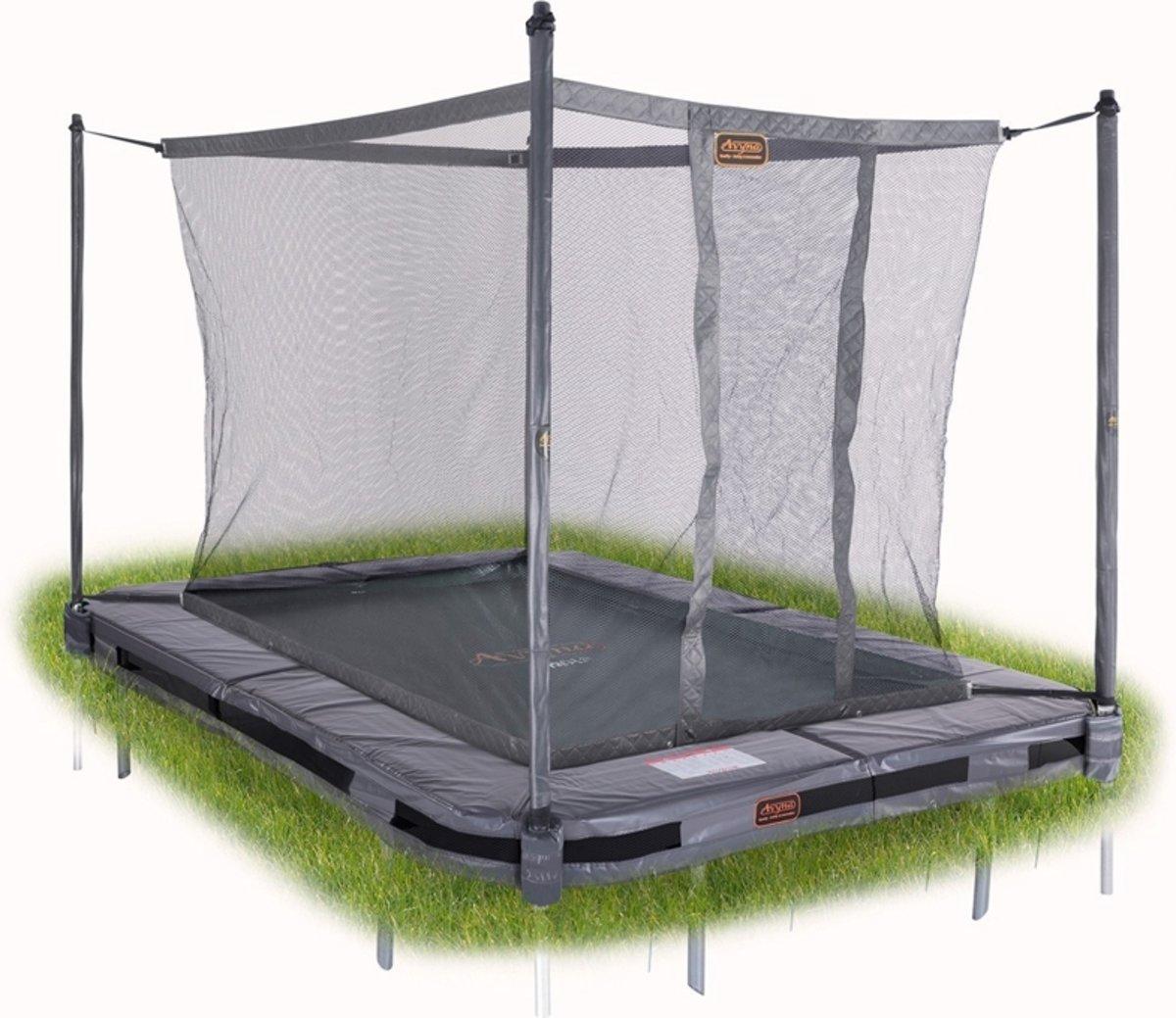 Avyna InGround trampoline PRO-LINE 275x190 (213) Grijs + Avyna Veiligheidsnet