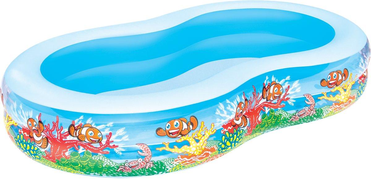 Bestway Opblaasbaar Zwembad 2 Rings - 262x157x46 cm