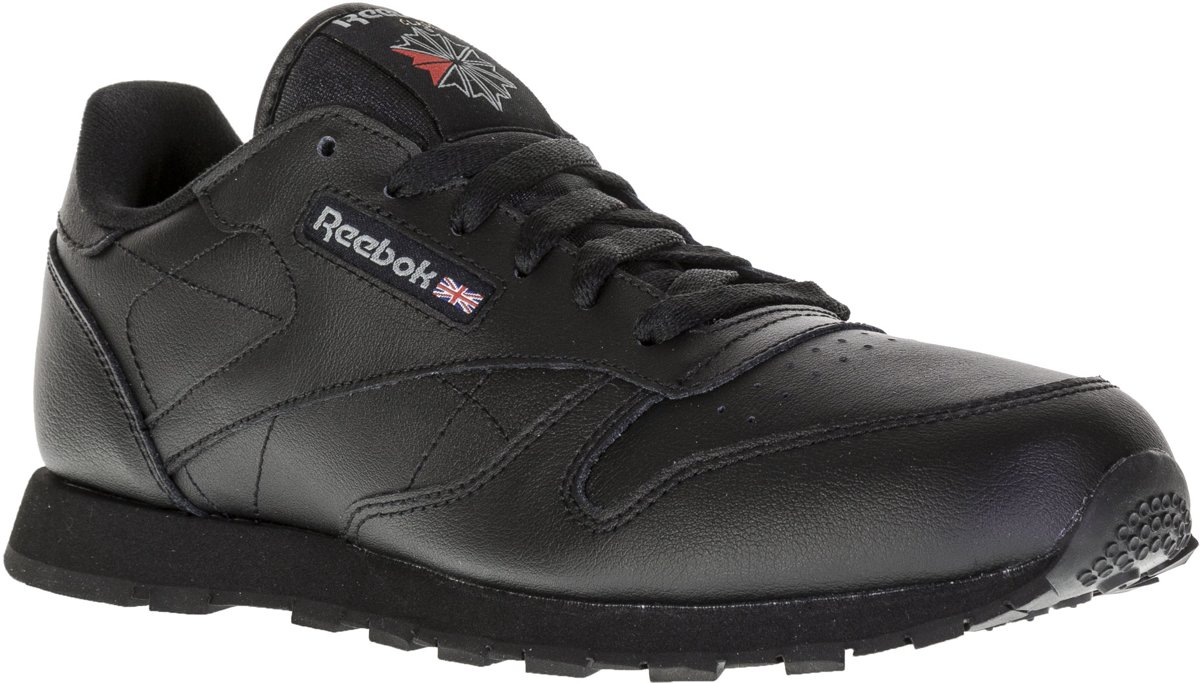 Reebok Meisjes Sneakers Classic Leather Kids Zwart Maat 36