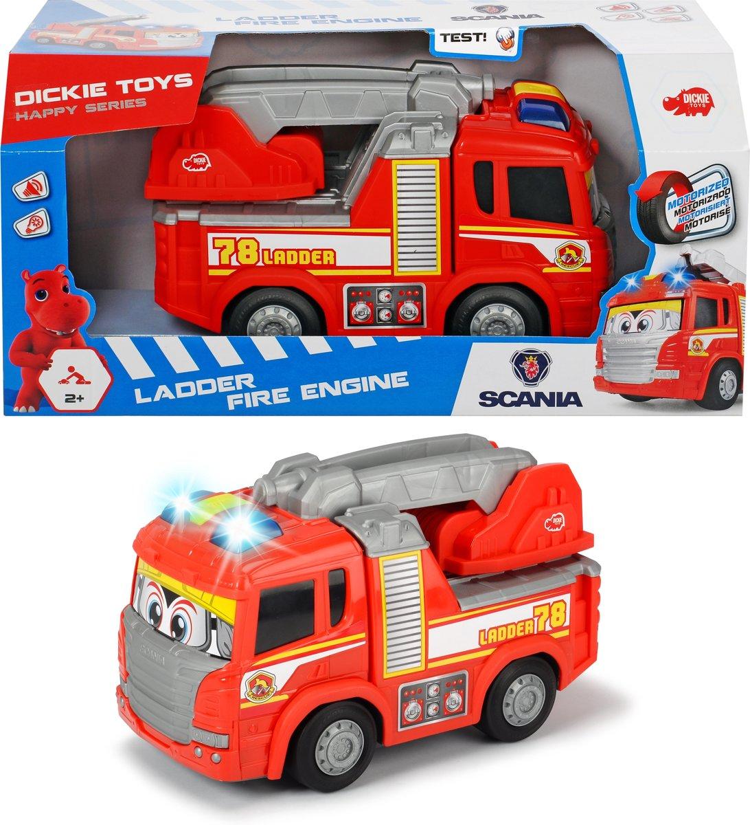 Dickie Happy Cars - Brandweerwagen (25cm)