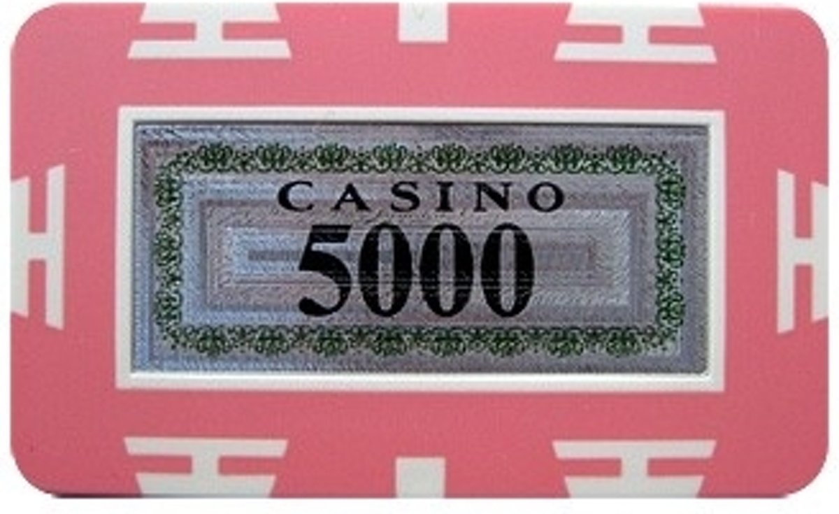 Poker Plak/Plaque Rectangle Chip 30 Gram ABS Roze 5000 kopen