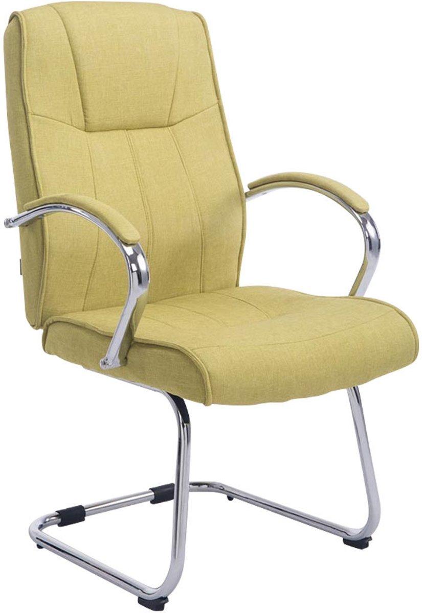 Clp Bezoekersstoel BASEL V2 conferentiestoel, vergaderstoel - chromen cantilever met armleuning, stof - groen kopen
