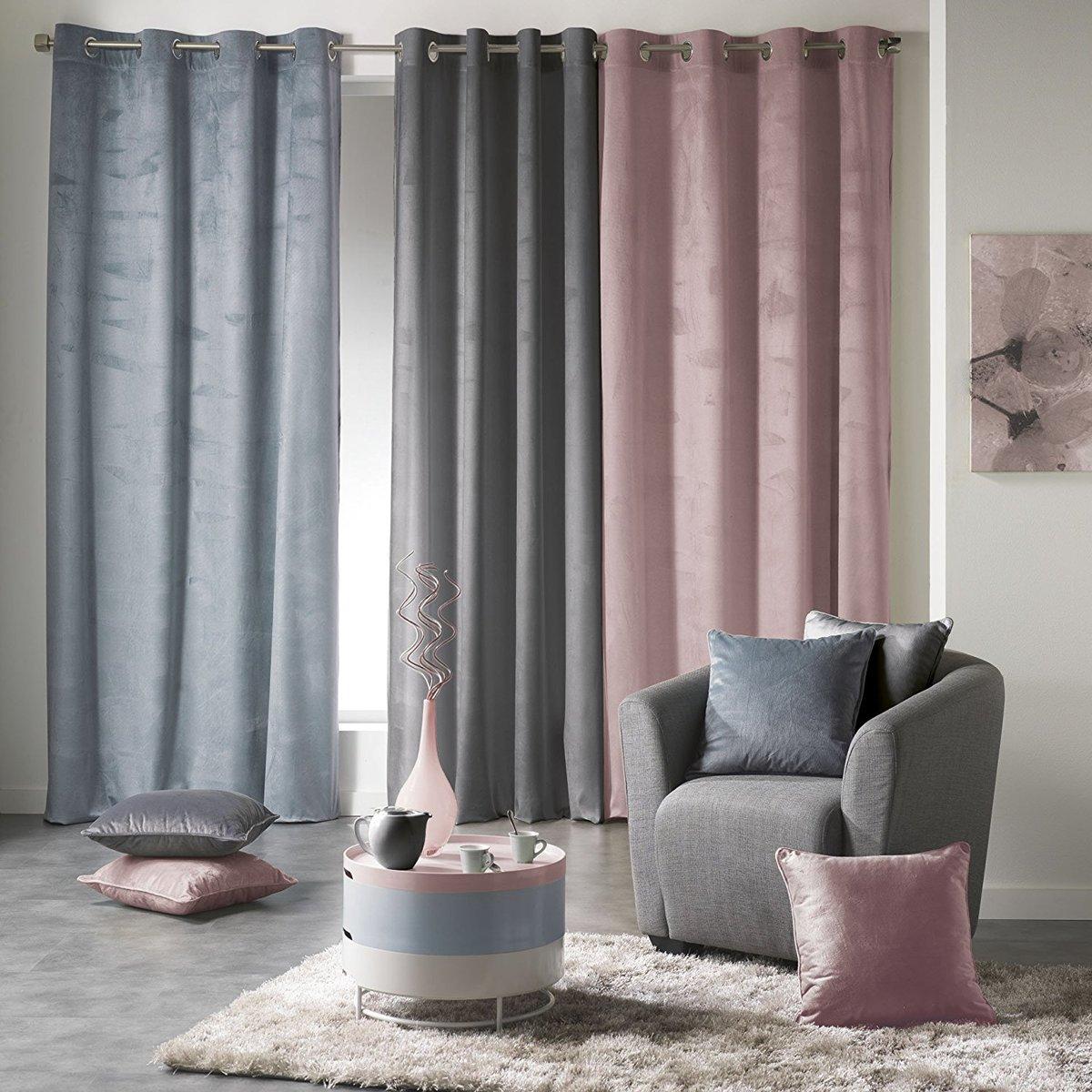 bolcom sleepp velvet gordijn velours gordijn met ringen 140 x 240 cm roze