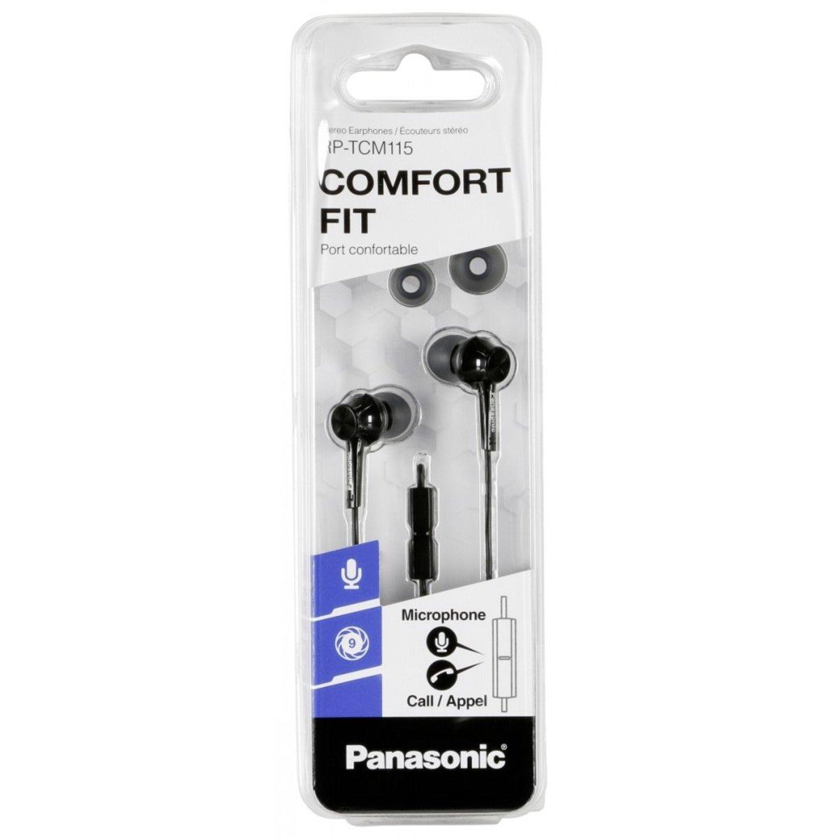 Panasonic RP-TCM115E mobiele hoofdtelefoon Stereofonisch In-ear Zwart Bedraad kopen