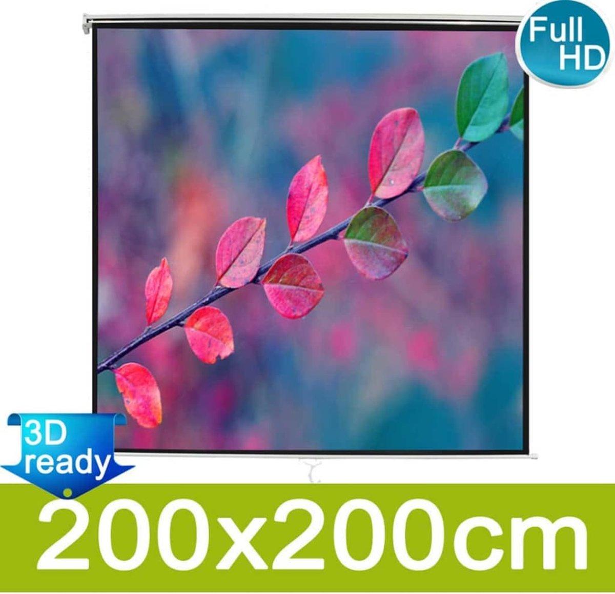 vidaXL - Projectiescherm mat wit 203x203 cm 240100 kopen