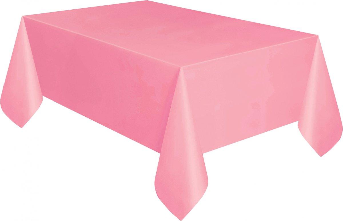 plastic tafelkleed - baby roze - 137x274 cm kopen