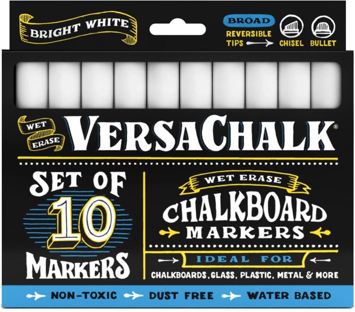 VersaChalk- Liquid Chalkboard Markers - bold- 10 stuks - wit
