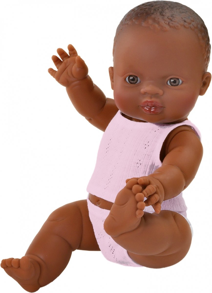 Paola Reina Gordi donkere babypop bruine huidskleur pop donker meisje 34 cm
