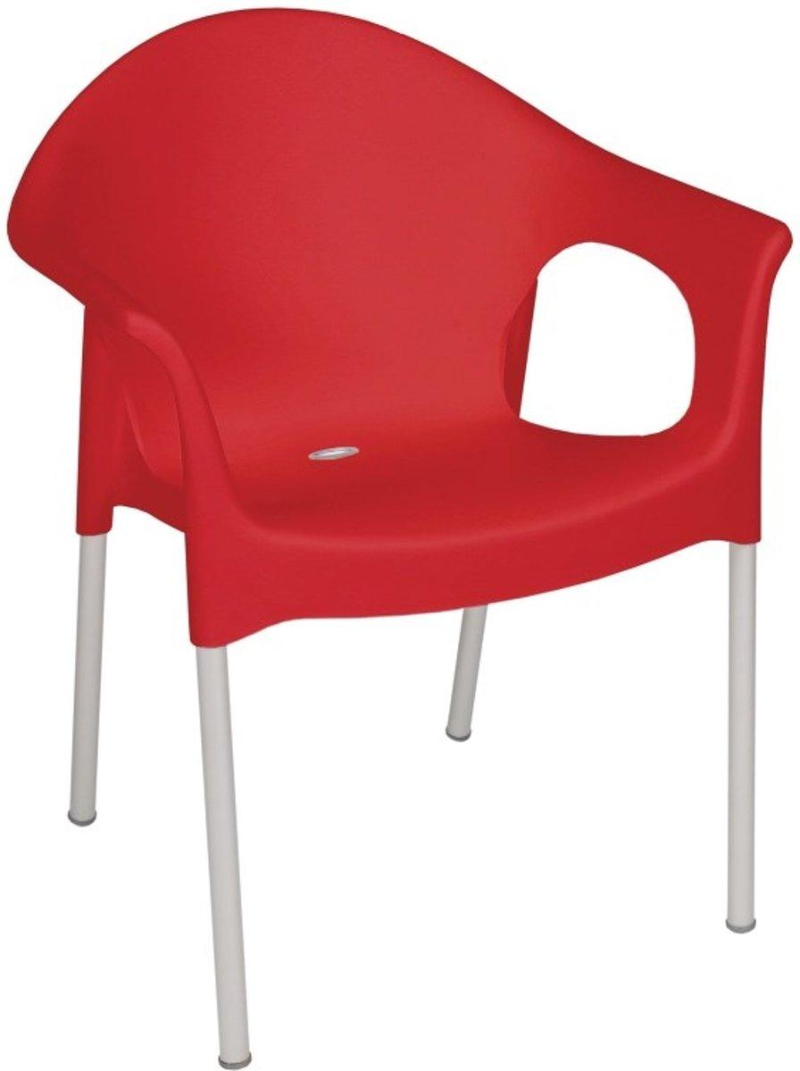 Stapelbare stoelen met armleuning | Rood | Per 4 stuks