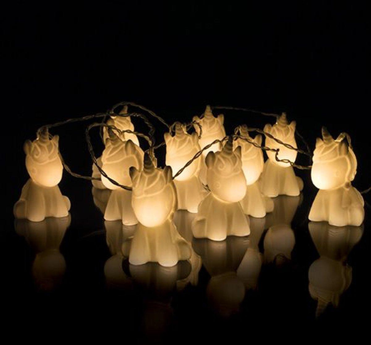 Unicorn lichtsnoer met 10 LED lampjes kopen