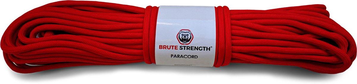 Paracord - Touw - 4 mm - 30 meter - Rood - Vismagneet touw - Magneetvissen touw - 250 kg breekracht