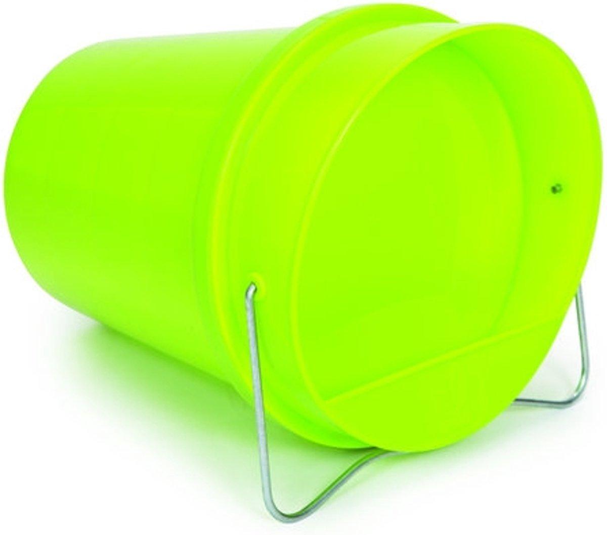 Gaun drinkemmer kip plastic groen 6L