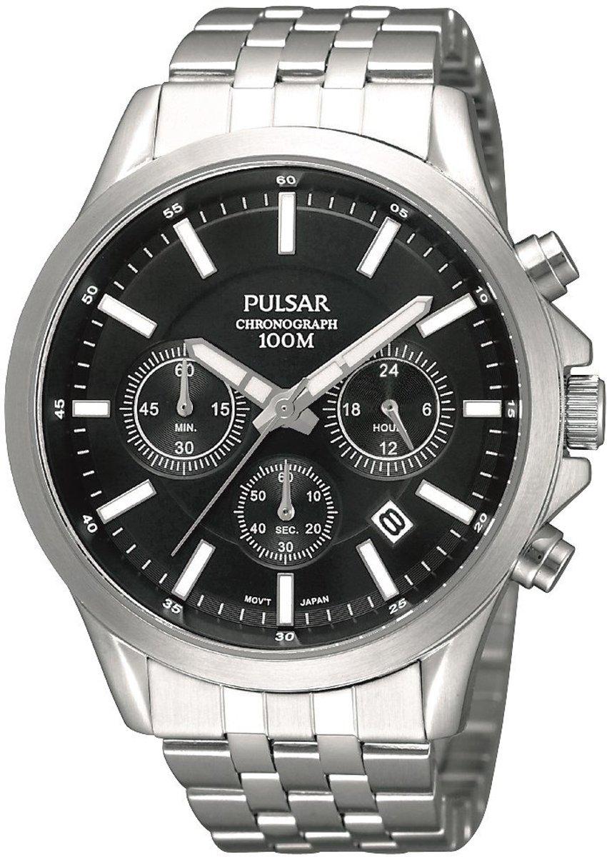 75cb1cbe55c219 Pulsar PT3045X1 horloge heren - zilver - edelstaal