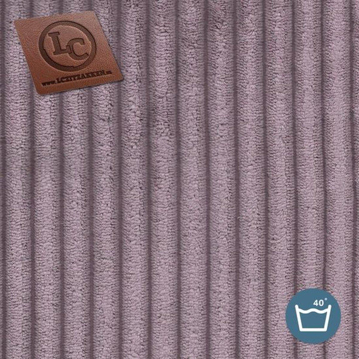 LC Zitzak hoes Ibiza M ribcord paars - Wasbaar - Zacht en comfortabel kopen