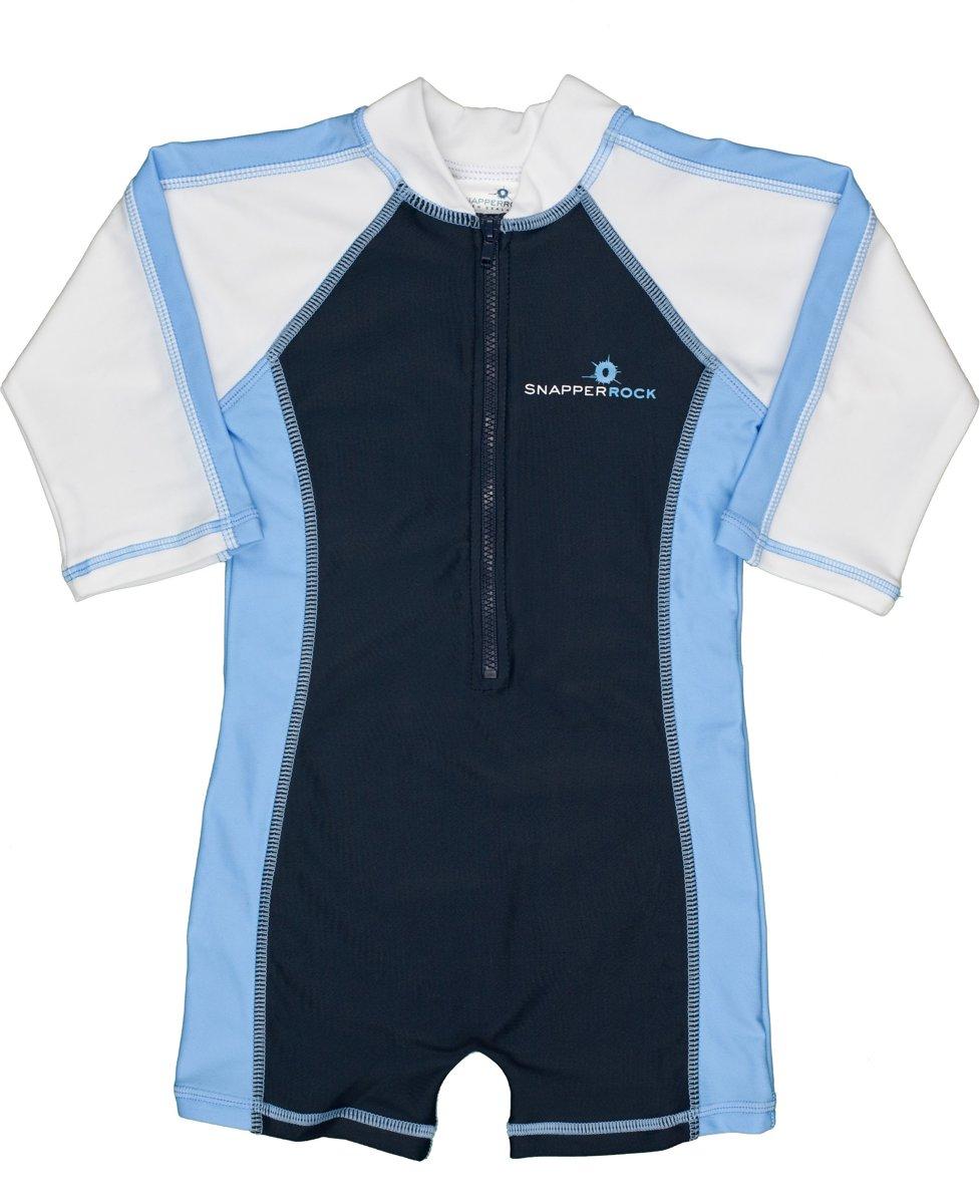 Snapper rock Zwemveiligheid UV badpak Navy and light blue (korte mouw)    Maat 68 cm