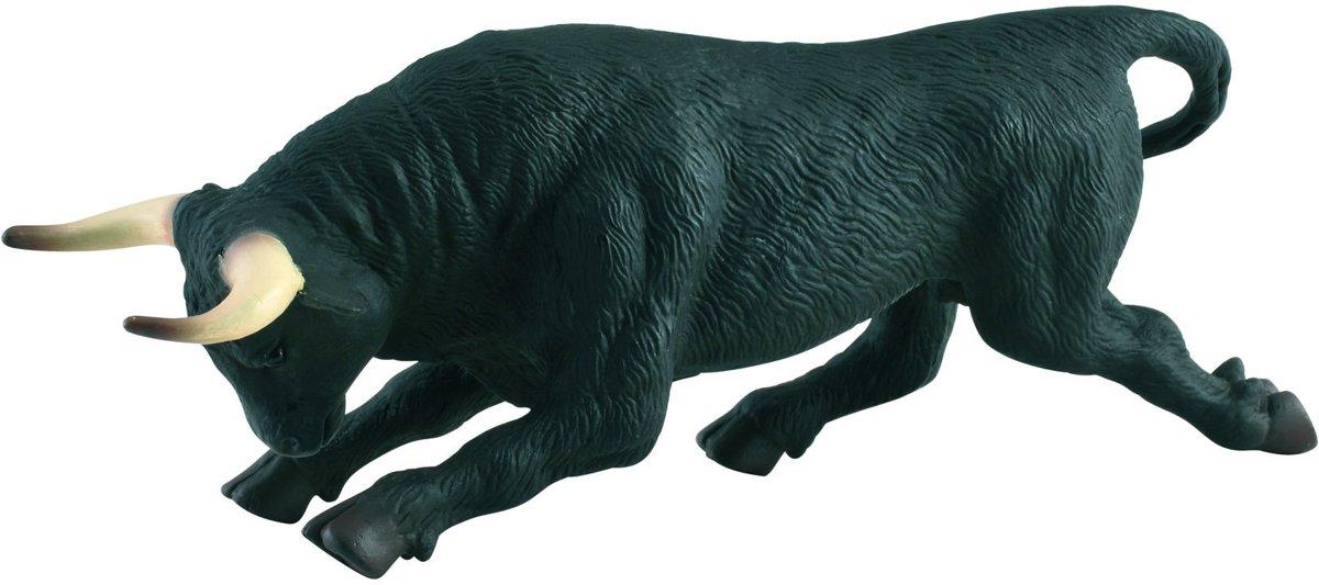 Collecta Boerderijdieren: zwarte vechtstier 15,5 x 4,6 cm kopen