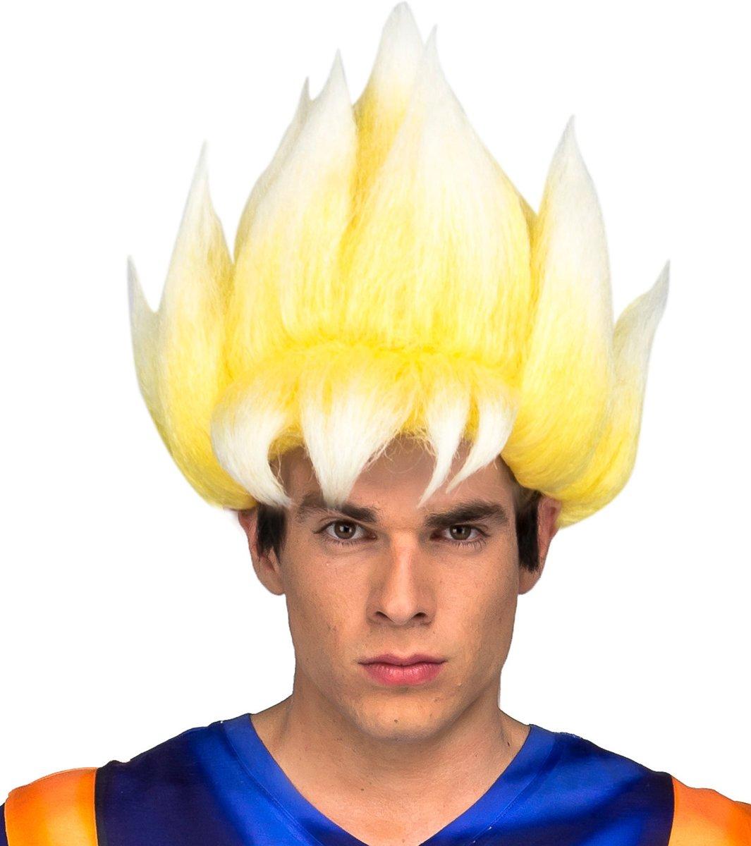 Goku Dragon Ball™ Super Saiyan pruik voor volwassenen - Verkleedpruik kopen