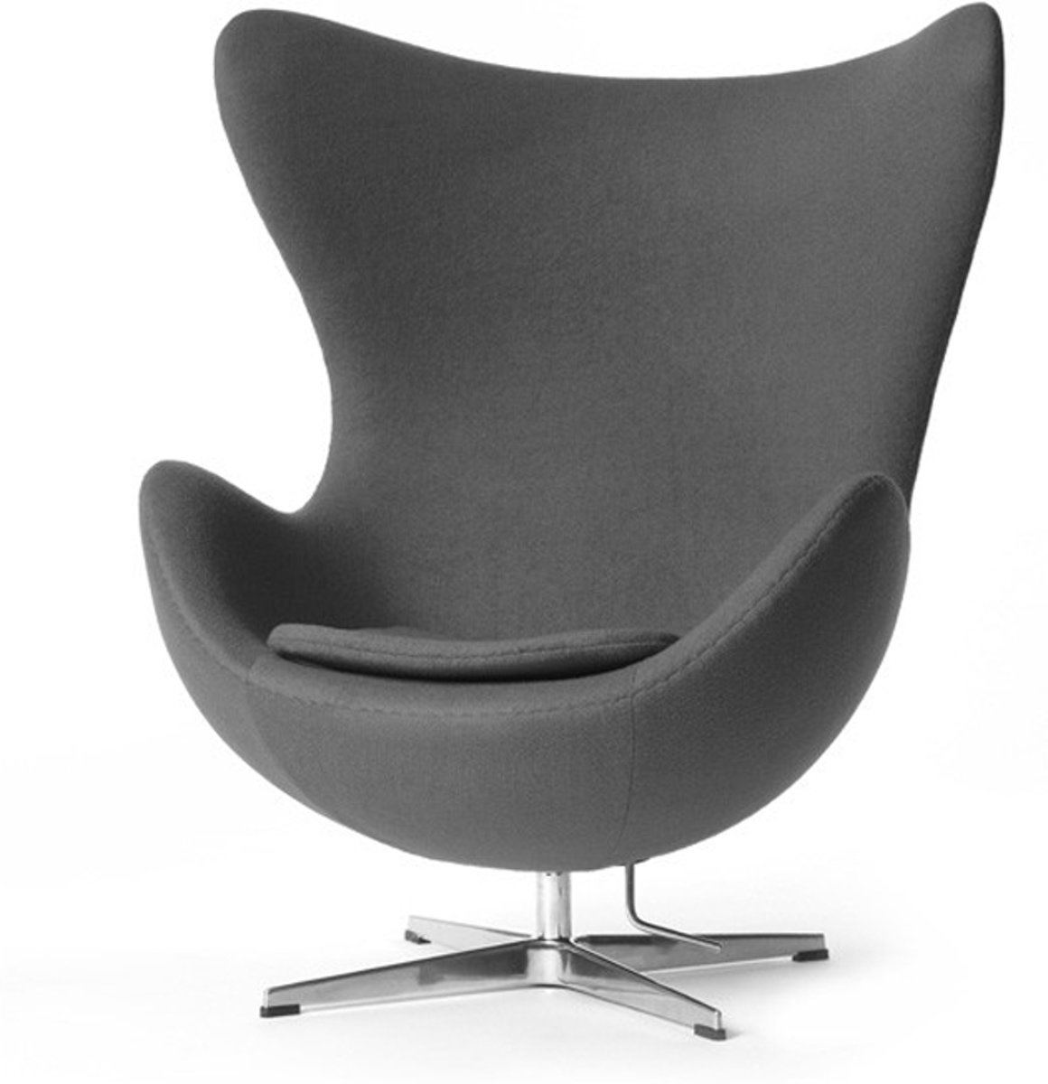 lounge stoel Egg Chair Cashmere lichtgrijs kopen