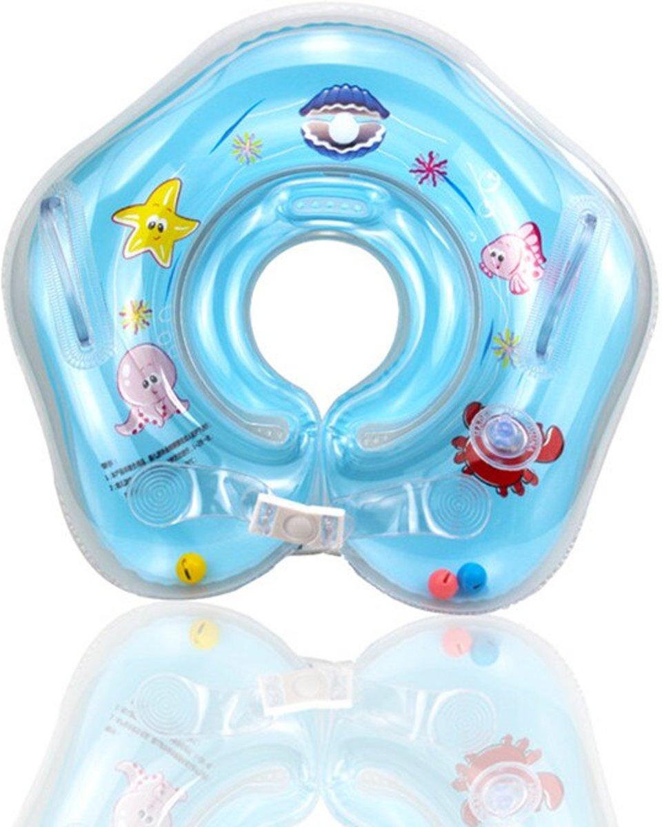 Zwemring Baby – Zwemkraag – Zwemkraag Baby – Baby Float – Baby Floating - Opblaasbare Nekring - Baby Zwemband – Nekring - Zwemring Oranje – 3-18 maanden – Babyfloat – Baby Zwemring