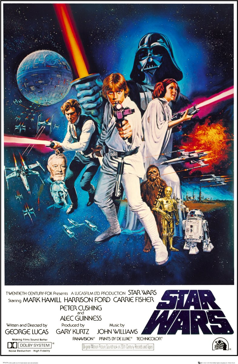 Poster Star Wars - one sheet b kopen