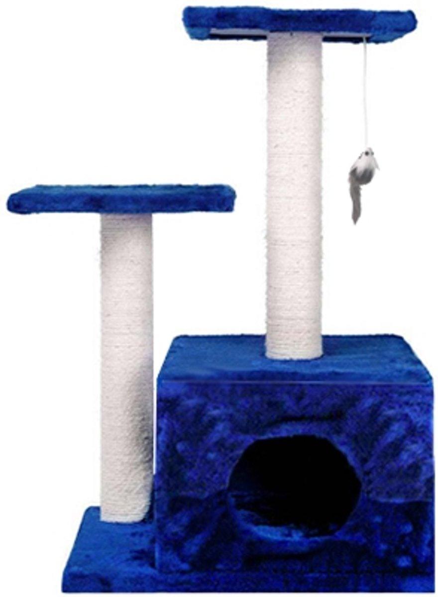 REKE Katten Krabpaal Gismo - 44x33x71 cm - Donkerblauw