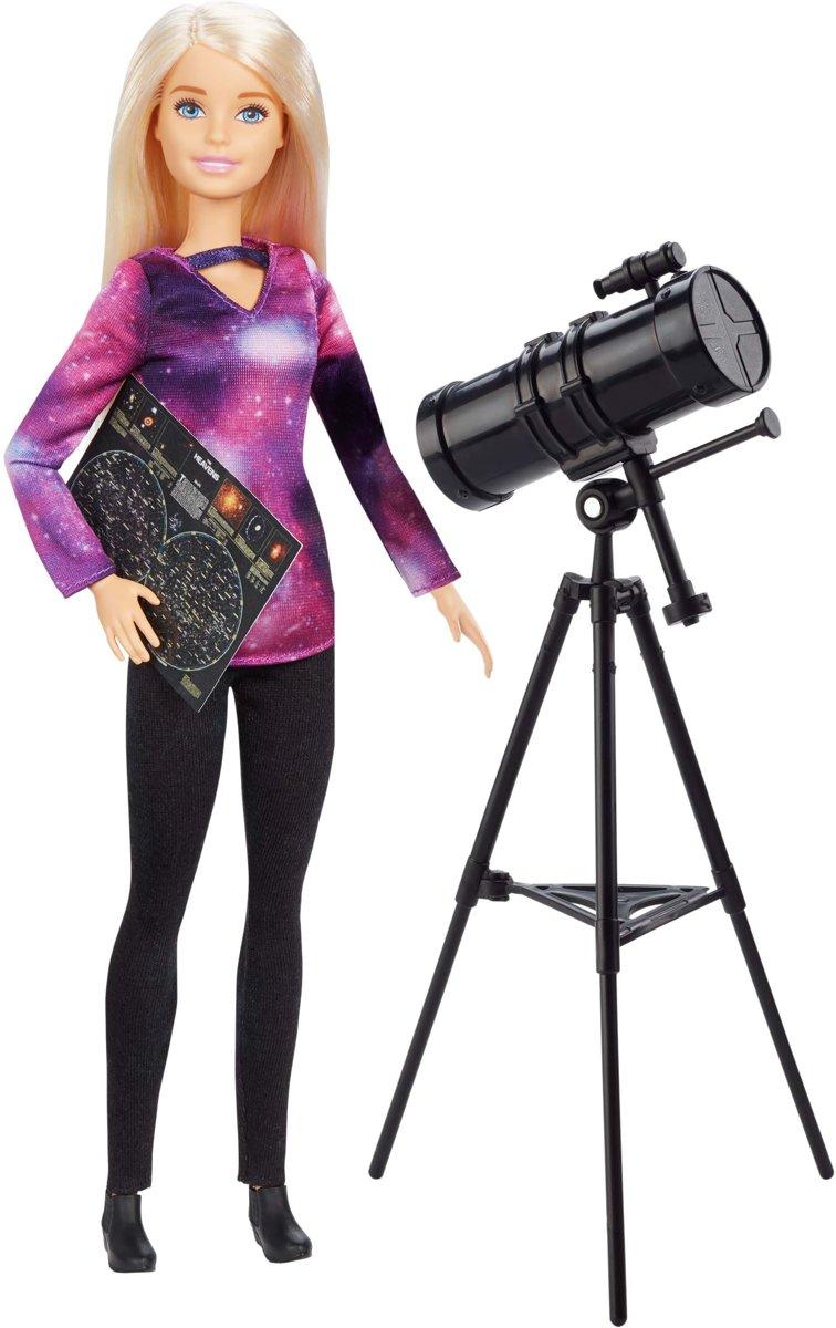 Barbie astrofysicus National Geographic 26 cm paars/zwart