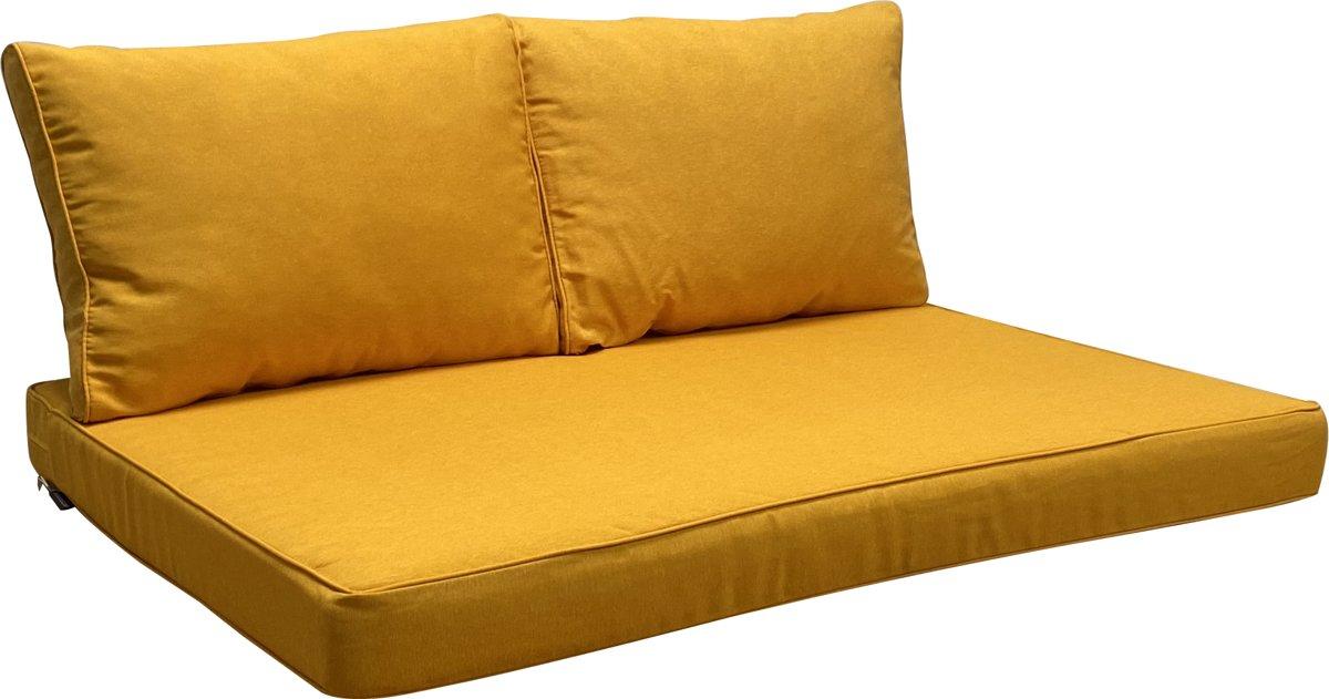 Madison kussenset Geel voor loungeset 3-delige palletkussen set 120x80cm
