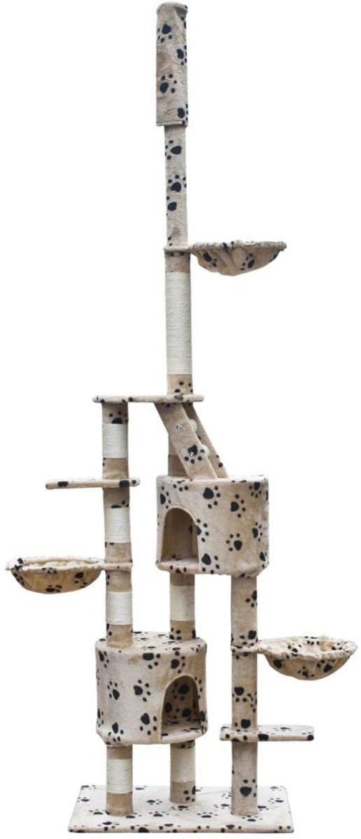 vidaXL - Luna XL Krabpaal - Beige - 45 x 69 x 260 cm