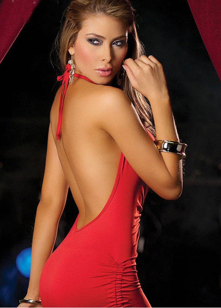 Foto van Body Pleasure - Super Strakke - Sexy Dress - Jurkje - TL01 - One Size - Rood